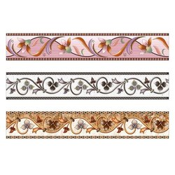 Ceramic Glossy Designer Border Tile 24x4, Thickness: 8 - 10 mm, Size: 24*4 Inch