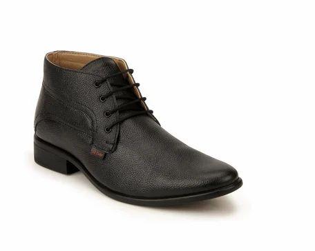 RC2381 Black Derby Formal Shoes, Mens