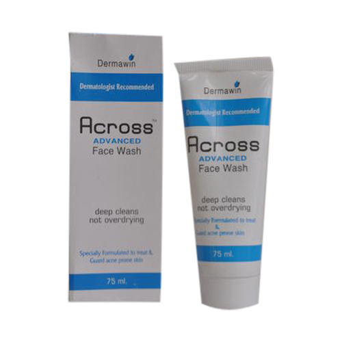 Across Anti-Acne Face Wash, Packaging Type: Tube, Packaging Size: 75 Ml