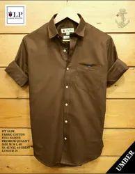L-P-Plain Shirt Umber