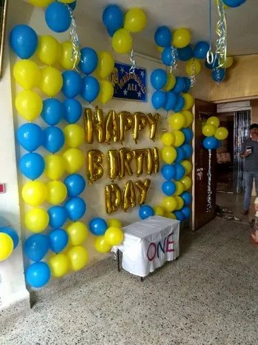 Birth Day Party Balloon Ribbon Decoration in Belapur Cbd