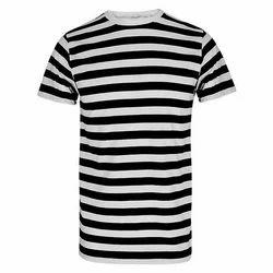 Cotton Ladies Striped T Shirt