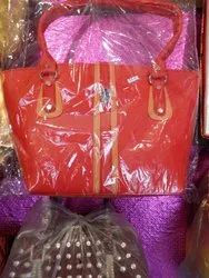 Leather And Rexine Woman Bag