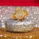 SSGJ Meru Gold Plated Ring Kachua Ring With Diamond Shree Shyam Gems And Jewellery
