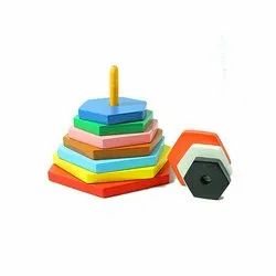Natural Graded Tower Hexagon for School/Play School