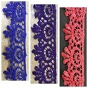 Embroidered Pan India Matka Lace, For Garment, Size: 1 Inches