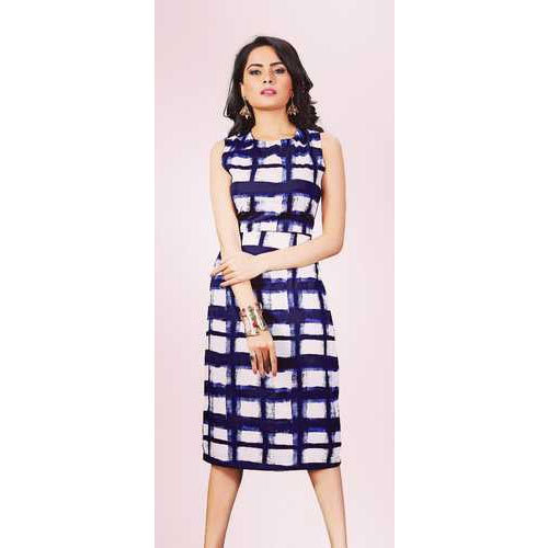 71bb569562dd4 Blue Cotton Ladies Printed Western Dress, Rs 300 /piece, Diego ...