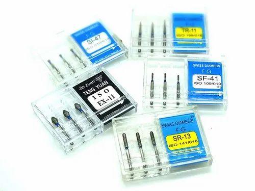 Dental Diamond Bur SI-47, TR-11, EX-11, SF-41, SR-13 Pack Of 5 Pcs Addler