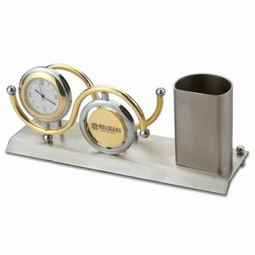Unik Gifts India Table Clock, Name Card Holder