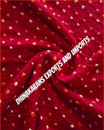 e6df0cf325246 All Colors Available Plain & Printed Handknotted Bandhani Fabric, Use:  Womes Clothing