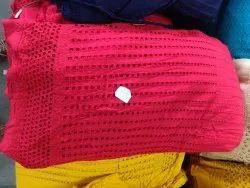 Ladies Rayon Half Chikan Palazzo Fabric