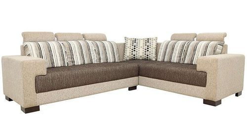 L Shape Traditional Fabric Sofa Set