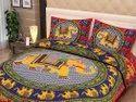 Jaipuri Bedsheets Double Bed Elephant Print