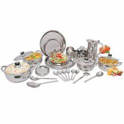 101 Piece Stainless Steel Dinner Set