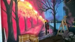 Commercial Graphics Wall Painting