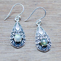 GOLDEN RUTILE GEMSTONE 925 STERLING SILVER NEW FASHION EARRING WE-5483