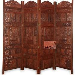 Aarsun Woods Sheesham Wooden Partition Screen / Room Divider, Size: 80 X 72 Inch