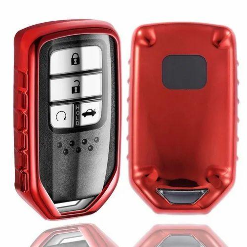 KeyCare TPU Car Key Covers for Honda City, Civic, Jazz, Amaze