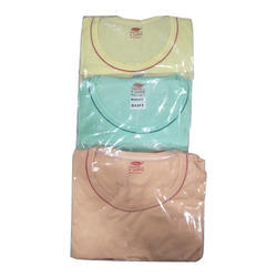 Cotton Multicolor Baby Girls Plain Night Suit
