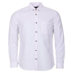 Full White Plain Shirt