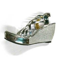 Ladies Rexine Party Wear Wedges Sandal, Size: 6 to 7