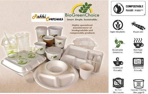 Biodegradable Plates Cups Bowls