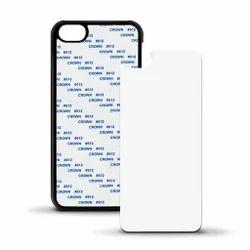 Black Plastic Sublimation 2D Mobile Cover I Phone 6