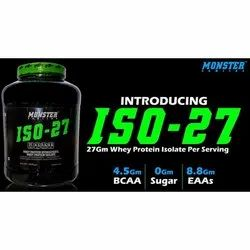 Monster Whey Protein Isolate, Packaging Type: Plastic Container