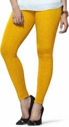 Yellow Mid Waist Lux Lyra Woolen Ladies Leggings, Size: Large,Xl, Casual Wear