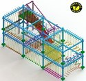 Double Layer 10 Pole Rope Course