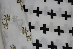 100% Organic Cotton Double Cloth Muslin Printed Fabric