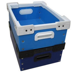 Blue PP Corrugated Crate, For Storage, Capacity: 20-30 Kg