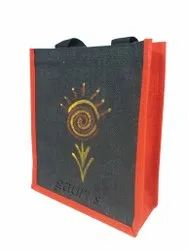 Hand Painted Loop Handle Jute Shopping Bags, Capacity: 4 Kg, Size: 2 X 12 X 4
