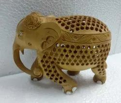 Wooden Elephant Animal Figure For Room Decoration