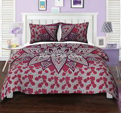 Pink Purple Mandala Cotton Printed Duvet Quilt Cover
