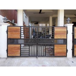 Wood with Steel Gate
