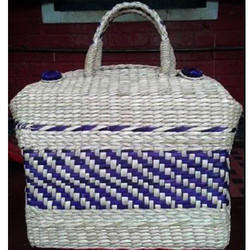 Bamboo Blue Jali Picnic Bag