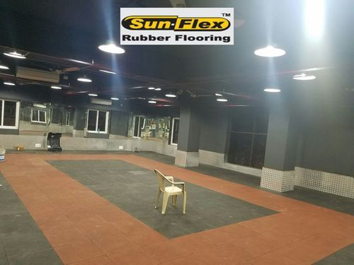 Gym Rubber Tiles Mm And Mm Rs Square Feet Shital - Mate flex flooring