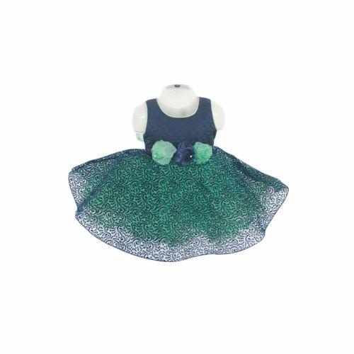 df05e8b96 Dark Blue, Sea Green Party Wear Baby Frock, Size: 16 Inch X 22 Inch ...