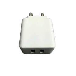 White Double Pin Mobile Travel Adapter