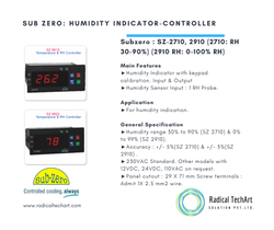 1 A Sub Zero: Humidity Indicator-Controller ( SZ-2710, 2910 ), For Industrial