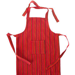 Red And Brown Kids Cotton Apron, Packaging Type: Packet