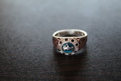Gents Silver Ring With Stone