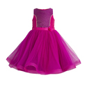 Satin And Net Pink Sleeveless Girls Party Dress, Age: 5-7 Years
