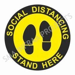 Social Distancing Safety Floor Sticker