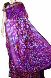 Silk Violet Stitching Saree