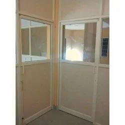 Cream Color Hinged Aluminum Office Door