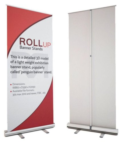 Roll Standee Banner, Size: 3 X 6 Feet