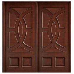 Swastik Wooden Teak Double Doors