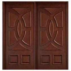 Swastik Wooden Teak Double Doors